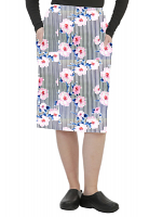 Cargo pockets ladies skirt in Flower and Line Print