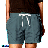 Denim short with 2 side pocket 1 back pocket elasticated twill drawstring (white) (inseam is 5 inches) 100% Cotton