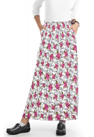 Cargo pockets ladies skirt A  Line Full Elastic waistband ladies skirt in Hey You Print