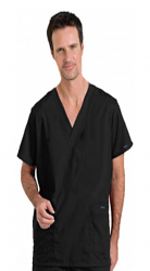 Stretchable Scrub set 5 pocket solid unisex cargo with pencil pocket top half sleeve (2 pkt top, 2 pkt pant) 1 cargo pkt 1 back pkt in 35% Cotton 63% Polyester 2% Spandex