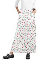 Cargo pockets ladies skirt A Line Full Elastic waistband ladies skirt in Cherry Blossom Print
