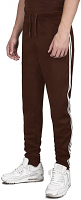 Jogger Scrub Pant with Stripes Unisex 2 Side Pocket with Zip and Drawstring in Brown Color Sizes are M-L-XL