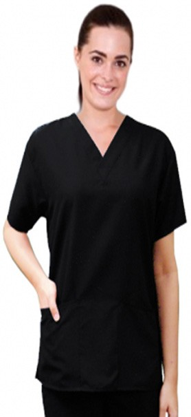 Bundle pack microfiber scrub top 2 pocket half sleeve unisex (s/15 xl/20 2x/15)