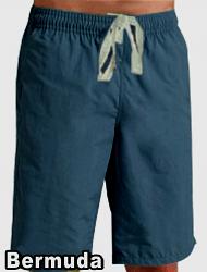 Bermuda with 2 side pockets 1 back pocket (inseam is 11 inches) In Dark Denim Shade 100% Cotton