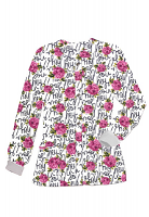 Jacket 2 pocket printed unisex full sleeve in Hey You Print with rib