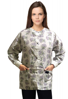 Jacket 2 pocket printed unisex full sleeve in Flower Bouquet Print with rib