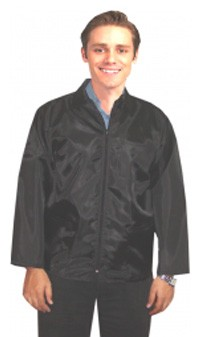 Barber jacket with collar 3 pocket full sleeve with zipper (nylon fabric soft finish )