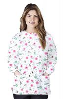 Jacket 2 pocket printed unisex full sleeve in cherry blossom print with rib