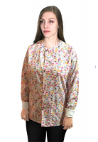 Jacket 2 pocket printed unisex full sleeve in Multi Flower with rib