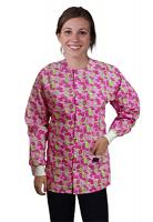 Jacket 2 pocket printed unisex full sleeve in petal story print  with rib