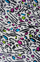 leopard print Loose Fabric (52% Polyester & 48  Cotton ) Per Meter