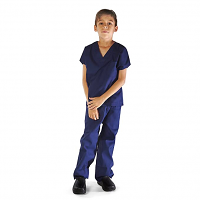 Children's scrub set 4 pocket half sleeve (top 3 pocket with bottom 1 pocket)