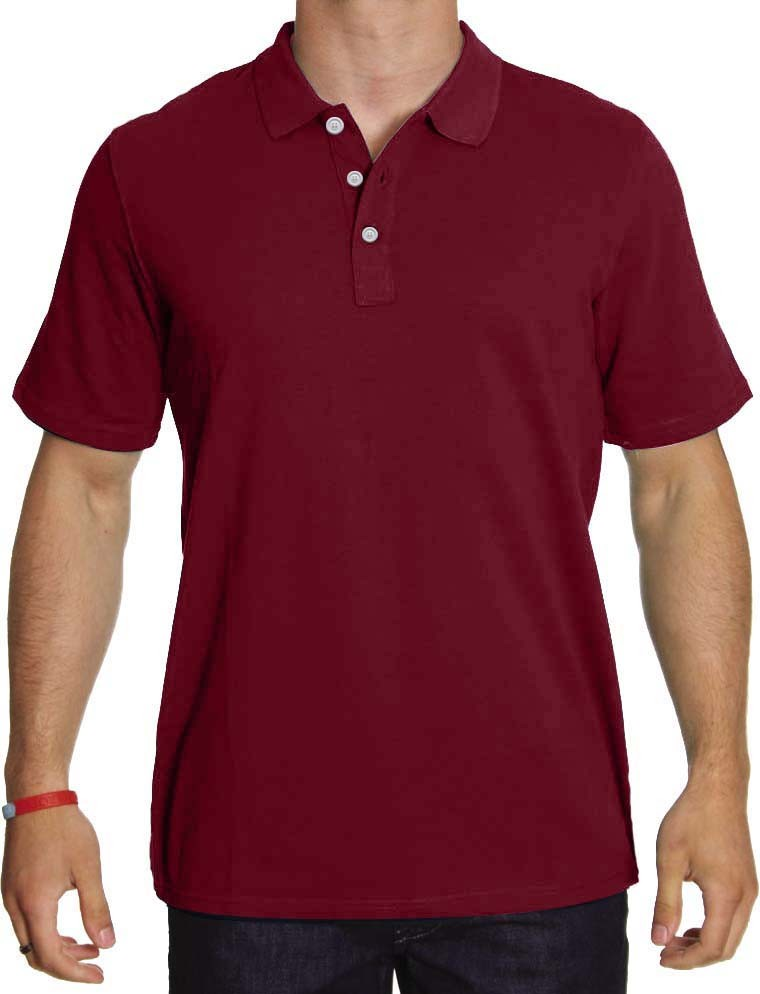 Clearance Unisex polo solid t-shirt  52 perc polyester 48 perc cotton