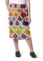 Cargo pockets ladies skirt in Red Wheel Print
