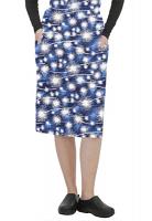 Cargo pockets ladies skirt in Blue Fire Work Print