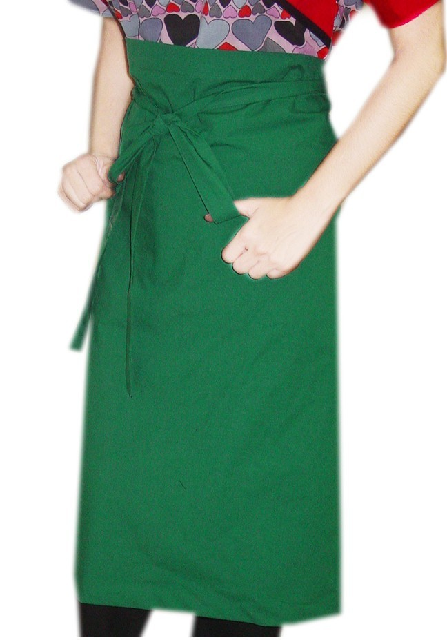 MICROFIBER APRON SOLID WITH 1 FRONT POCKET BACK OPEN
