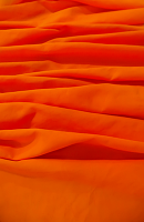 Microfiber Tango Orange Loose Fabric (100% Polyester) Per Meter