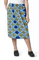 Cargo pockets ladies skirt in Blue Wheel Print
