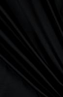 Microfiber Black Jet Loose Fabric (100% Polyester) Per Meter