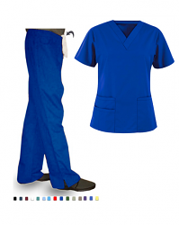 Bravo solid  set 6 pocket half sleeve (top 3 pocket with 1 pencil pocket bravo with bottom 2 pocket bootcut)