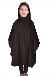 Children barber cape in 100 perc polyester soft finish