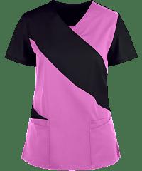 Cut N Sew style v-neck style 5 pocket top half sleeve