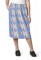 Cargo pockets ladies skirt in Red And Peach Tulip Print