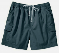 Denim Cargo shorts full elastic waistband  2 side pocket 2 cargo pocket with flap 1 back patch pocket (inseam is 5 inches) 100% Cotton