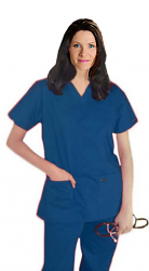 Scrub set 5 pocket ladies solid half sleeve (2 pocket top, 3 pocket pant)