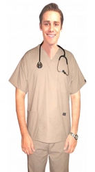 Scrub set 4 pocket solid unisex half sleeve (3 pocket top with normal 1 pocket pant)