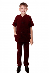 Children / Kids Scrub Jacket Set 4 Pockets Half Sleeves With Snap Buttons (Jacket with 3 pockets & Pant with 1 back Pocket)