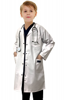 Children's / Kids Labcoat 3 Pocket Full Sleeve in Poplin Fabric with Snap Buttons