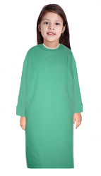 Children Patient Gown Full Sleeve with Contrast piping Back Open, Tie-able from Two Points Chest 33 Inches Length 26 Inches And Chest 41 Inches Length 35 Inches (Available in 37 Color)