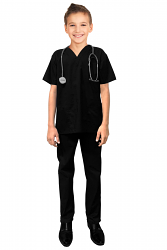 Children's scrub set 3 pocket half sleeve (top 2 pocket with bottom 1 pocket)