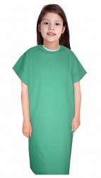 Children Patient Gown Half Sleeve with Contrast piping Back Open, Tie-able from Two Points Chest 33 Inches Length 26 Inches And Chest 41 Inches Length 35 Inches (Available in 37 Color)