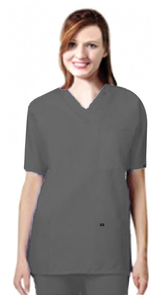 Stretchable Scrub set 9 pocket unisex solid half sleeve (3 pocket top 6 pocket pant) in 35% Cotton 63% Polyester 2% Spandex