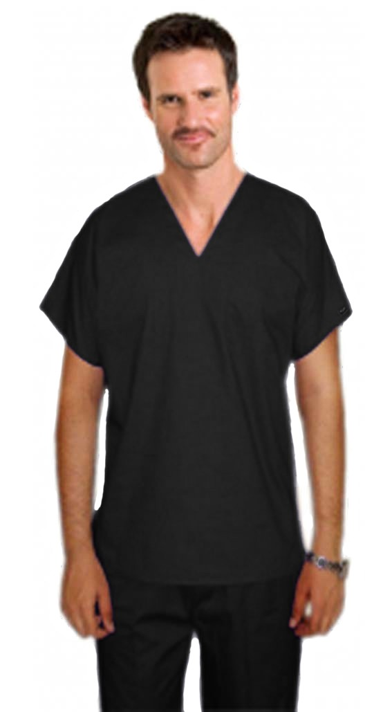 Stretchable Scrub set 4 pocket v neck unisex reversible half sleeve (1 pocket top 1 pocket pant) & 2 inside pockets in 35% Cotton 63% Polyester 2% Spandex