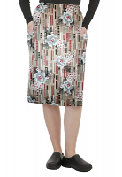 Cargo pockets ladies skirt in Flower and Shapes Print