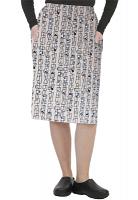 Cargo pockets ladies skirt in Geometric Print