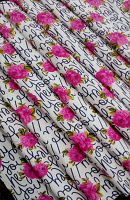 Hey You Print  Loose Fabric Width 64 Inch (52% Polyester & 48  Cotton ) Per Meter