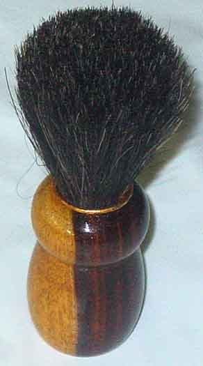 Barber shaving brush wooden base