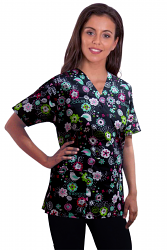 Printed scrub set 4 pocket ladies half sleeve Bird print (2 pocket top and 2 pocket pant)