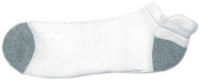 Unisex ankle jockey socks white color