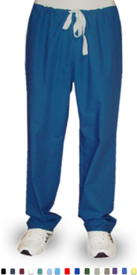 Microfiber Pant 1 back pocket no elastic cord only unisex