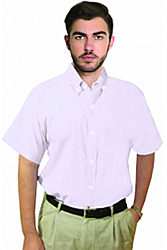 Unisex twill half sleeve shirt