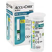 25 Strips Pack of Accu Check Active Blood Glucose Monitoring System