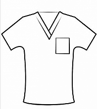 Customised vneck scrub top