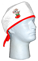 Christmas scrub cap