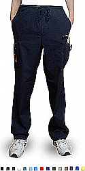 Qld pant 6 pocket 2 side pocket 2 cargo pocket with cell phone pocket 1 back pocket half elastic waistband unisex