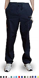 Microfiber Pant 6 pocket 2 side pocket 2 cargo pocket with cell phone pocket 1 back pocket half elastic waistband unisex